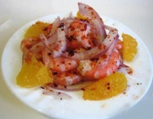 Салат с креветками и апельсином i-sumahom