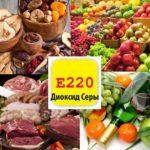 Пищевая добавка Е 220 — диоксид серы: что это такое, влияние на организм